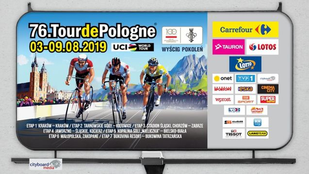 Cityboard Media partnerem 76.Tour de Pologne